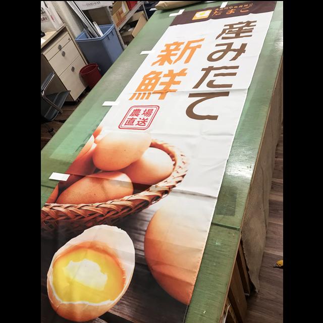 神奈川中央養鶏農業協同組合ののぼり完成品